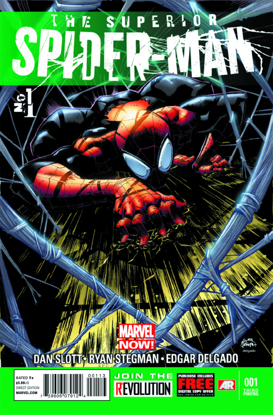 SUPERIOR SPIDER-MAN #1 4TH PTG STEGMAN VAR NOW