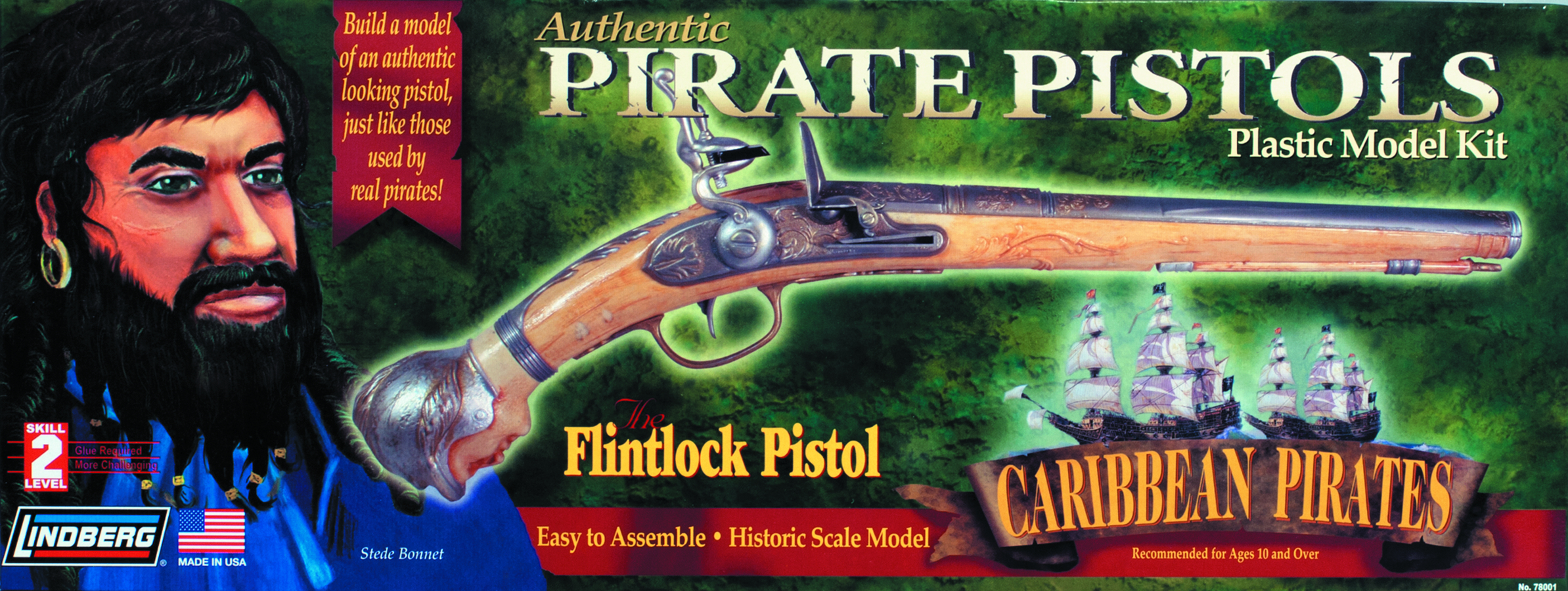 LINDBERG FLINTLOCK PISTOL 1/1 SCALE MODEL KIT