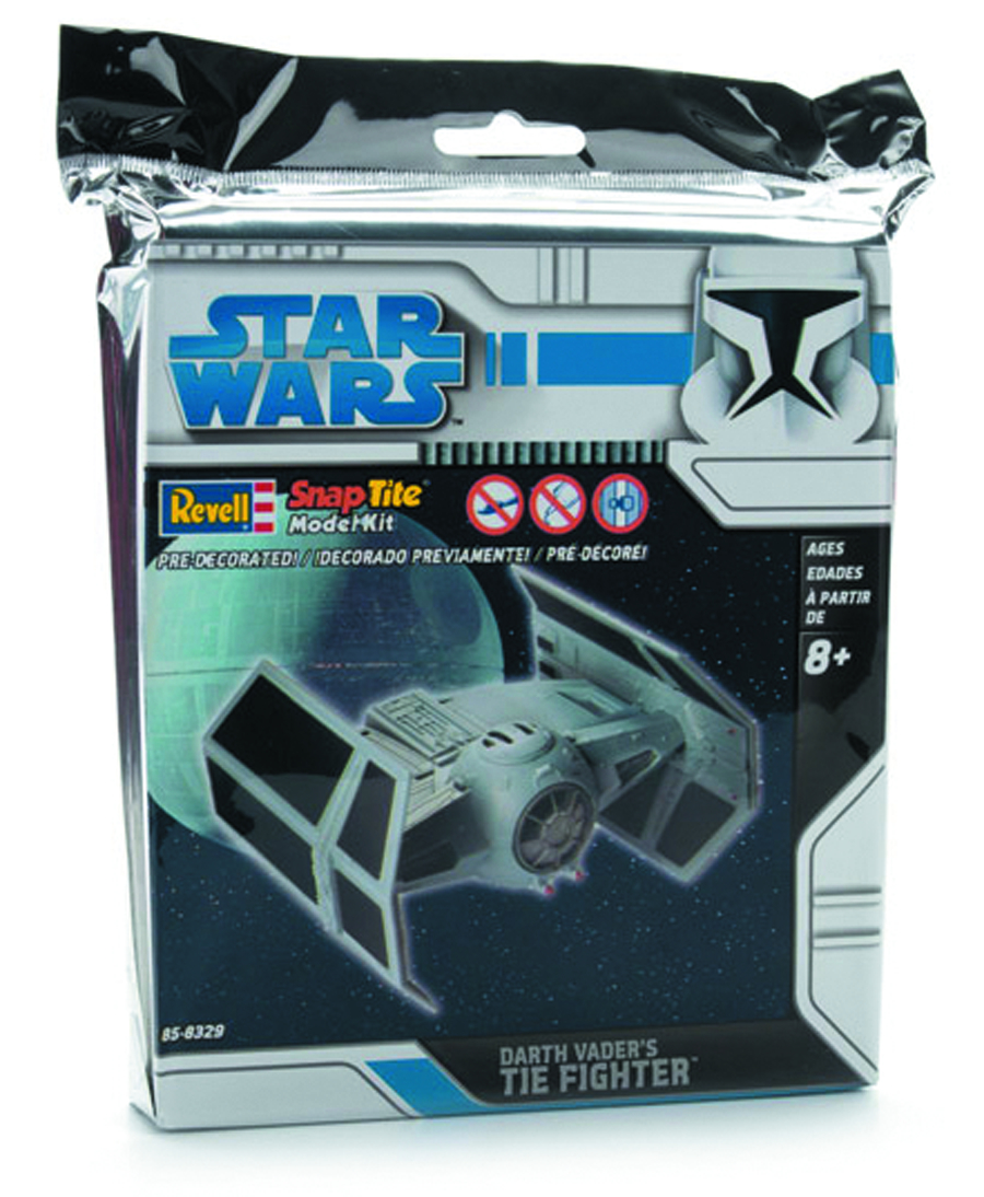 SW DARTH VADER TIE FIGHTER MINI-SNAPTITE MODEL KIT