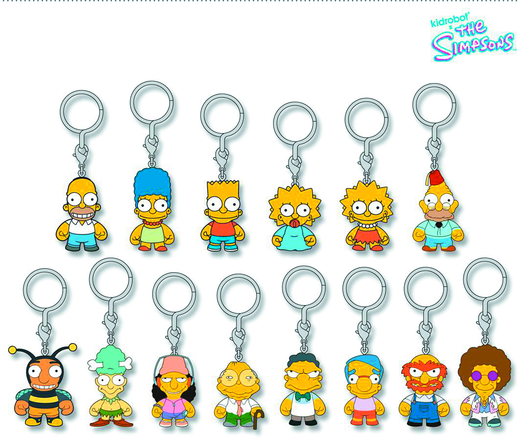 SIMPSONS ENAMEL KEYCHAIN 20PC DS