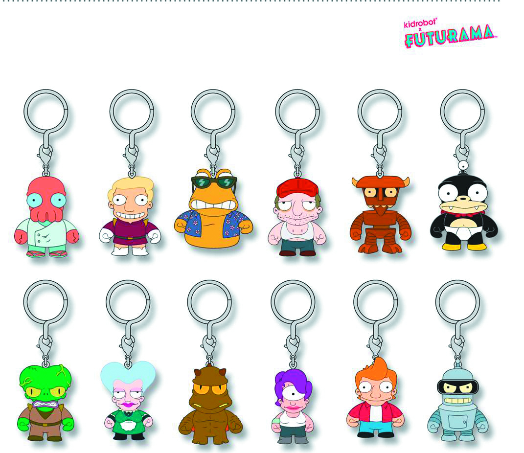FUTURAMA ENAMEL KEYCHAIN 20PC DS