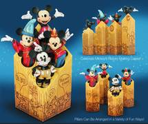 DISNEY TRAD MICKEY THROUGH THE YEARS PILLAR SET