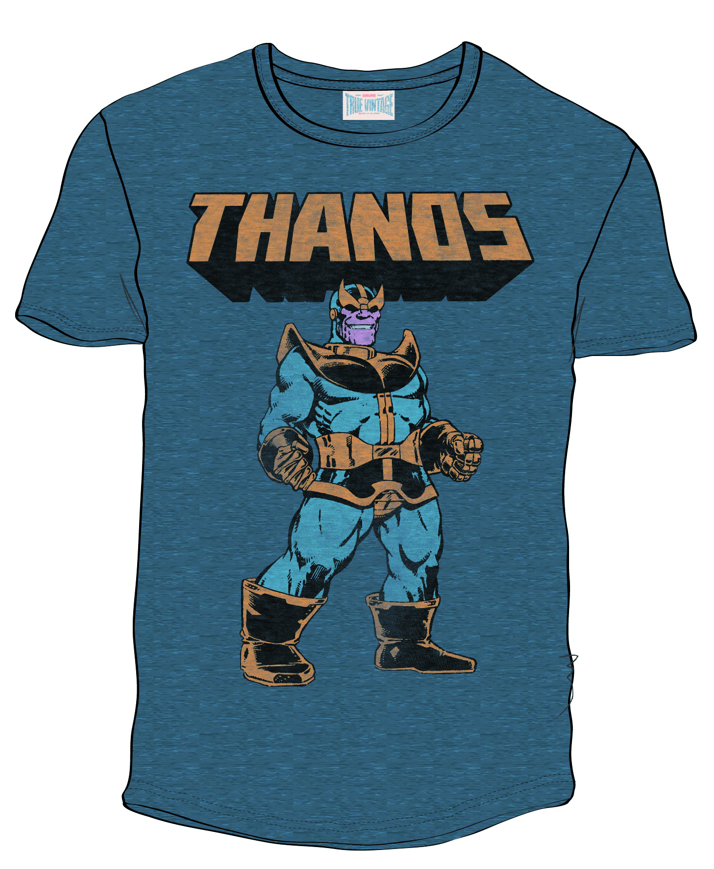 THANOS NAVY PX BLK HEATHER T/S XL