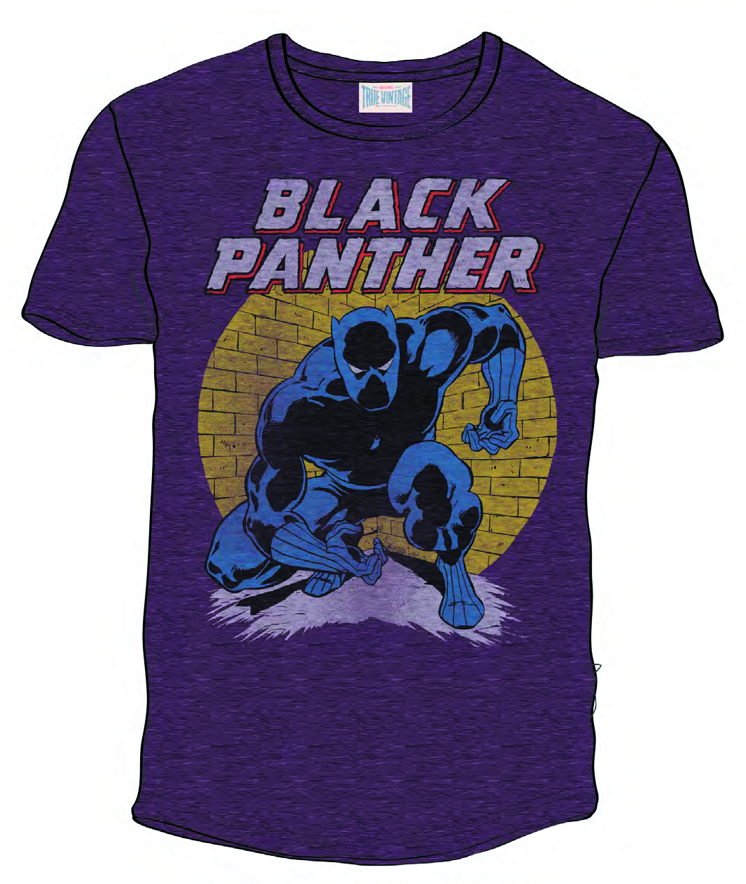 BLACK PANTHER PX BLACKBERRY HEATHER T/S SM