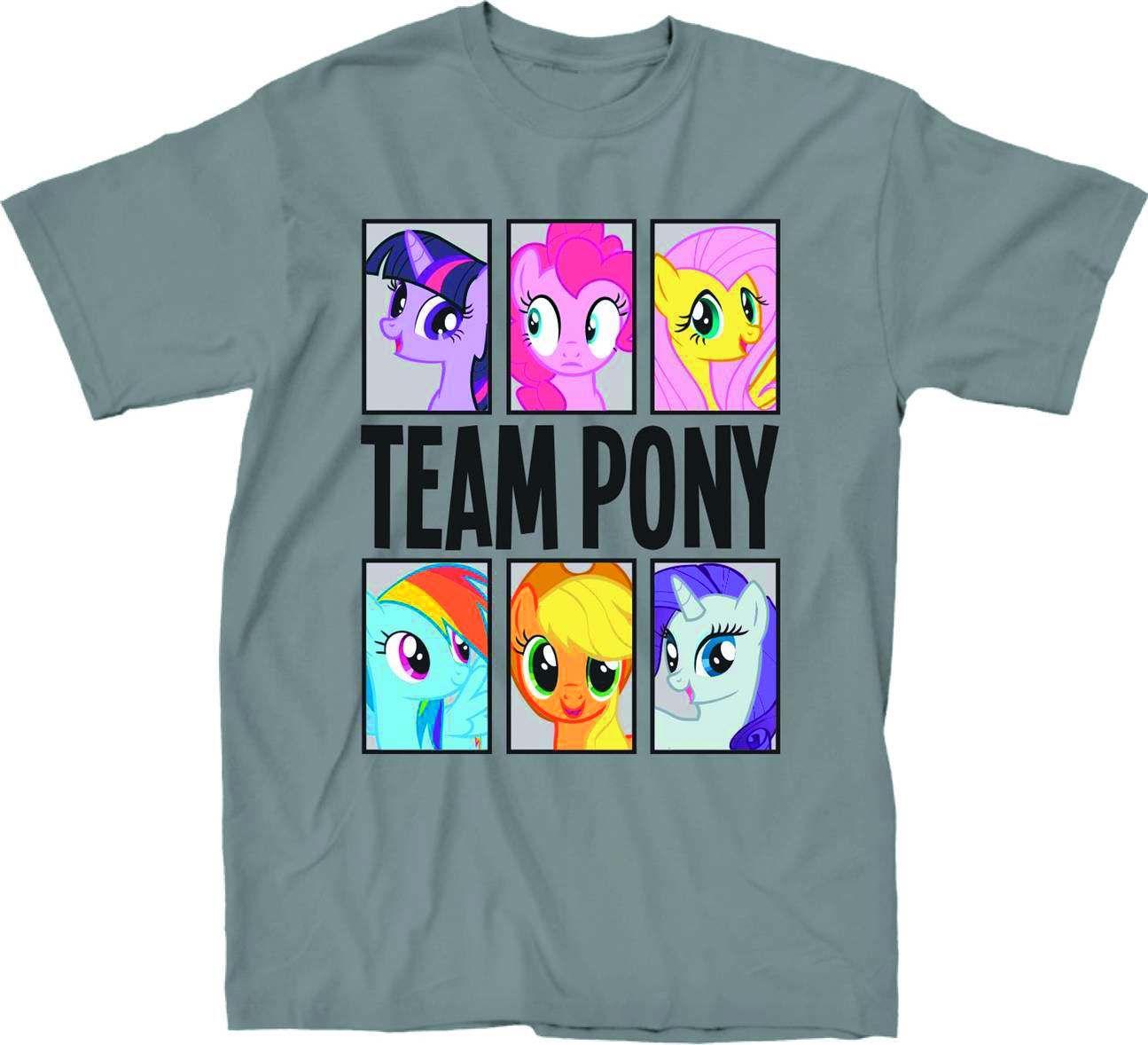 MY LITTLE PONY TEAM PONY PX SILVER T/S MED