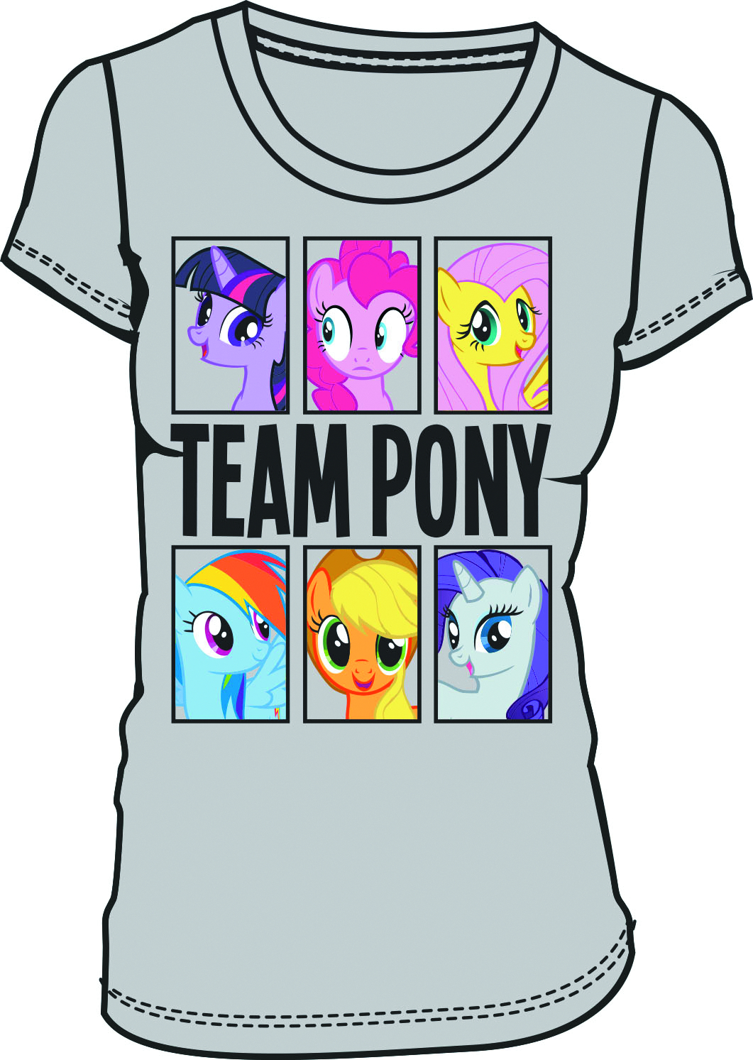 MY LITTLE PONY TEAM PONY PX CEMENT JRS T/S LG