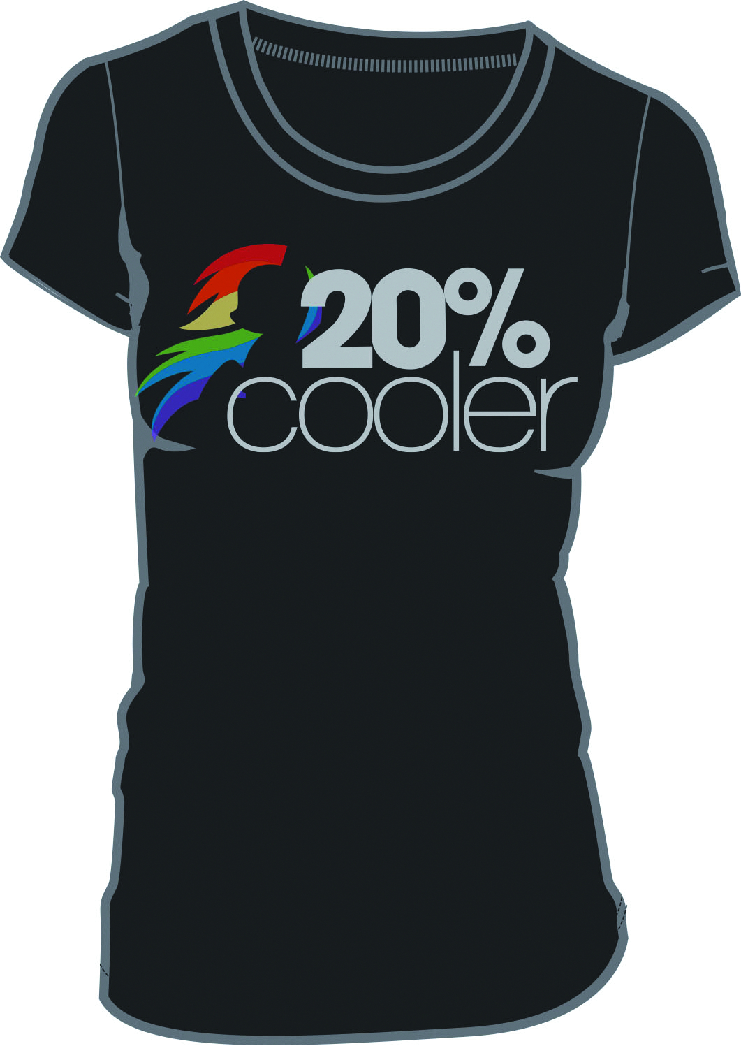 MY LITTLE PONY 20% COOLER BLK JRS T/S LG