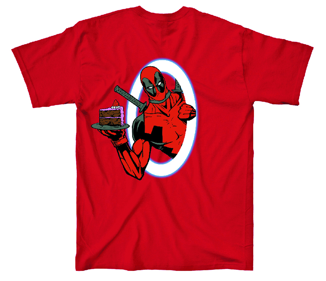 DEADPOOL BODY SLIDE RED T/S LG