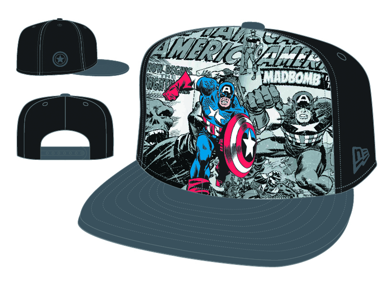 HERO BREAKOUT CAPTAIN AMERICA SNAP BACK CAP