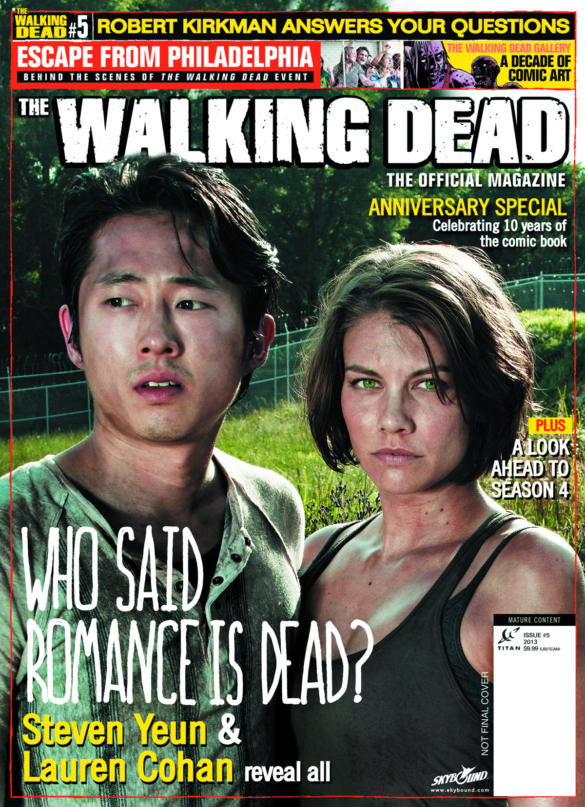 WALKING DEAD MAGAZINE #5 NEWSSTAND ED