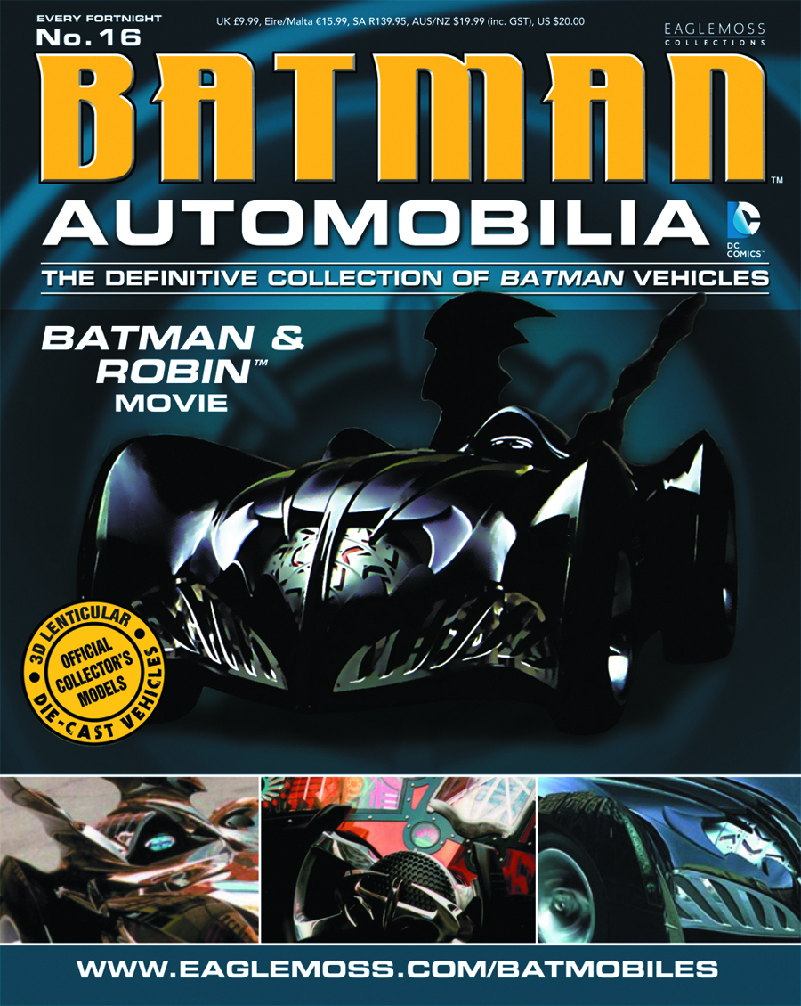 DC BATMAN AUTO FIG MAG #16 BATMAN & ROBIN MOVIE