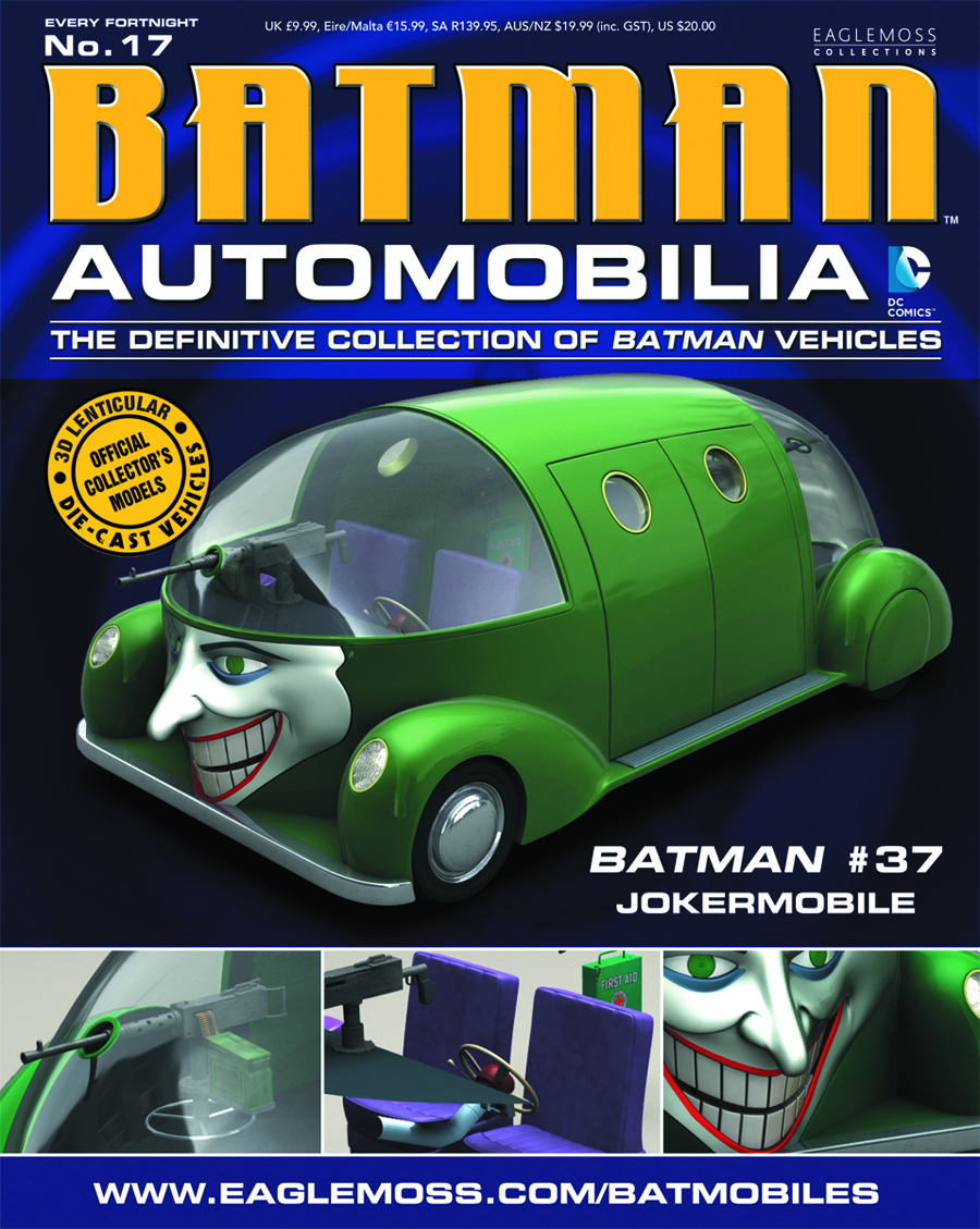 DC BATMAN AUTO FIG MAG #17 BATMAN #37 JOKERMOBILE
