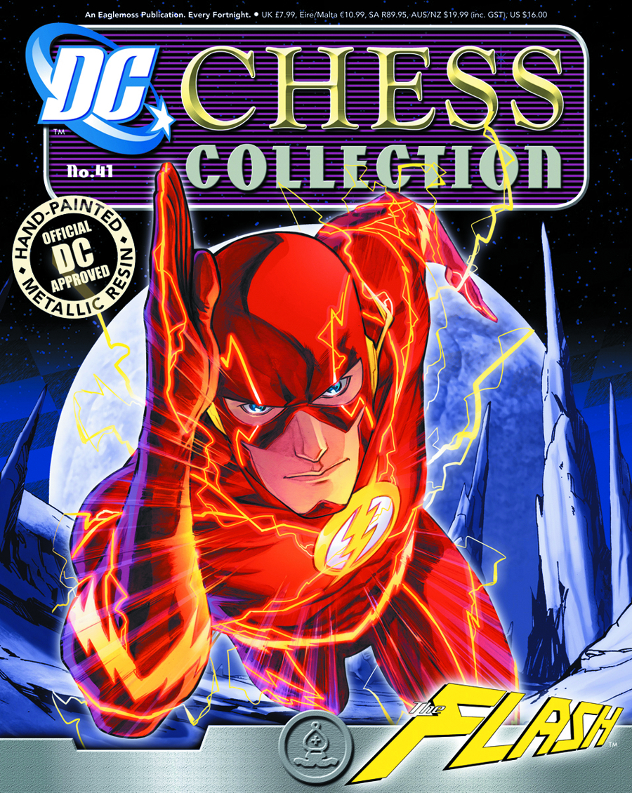 DC SUPERHERO CHESS FIG COLL MAG #41 FLASH WHITE BISHOP