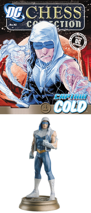DC SUPERHERO CHESS FIG COLL MAG #42 CAPTAIN COLD BLACK PAWN