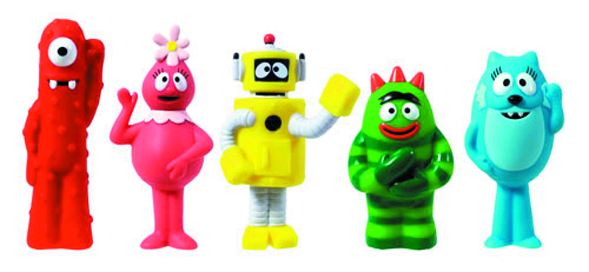 YO GABBA GABBA 3-IN FIGURE 5PK CS