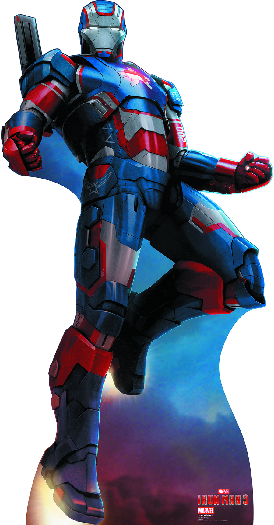 IRON MAN 3 IRON PATRIOT LIFE-SIZE STANDUP