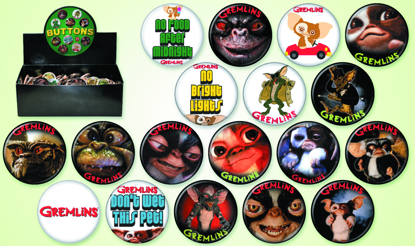 GREMLINS 144 PC BUTTON ASST