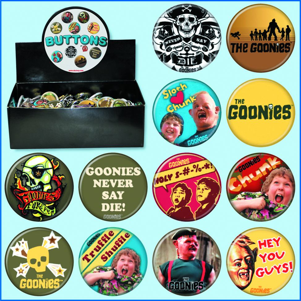 GOONIES 144 PC BUTTON ASST