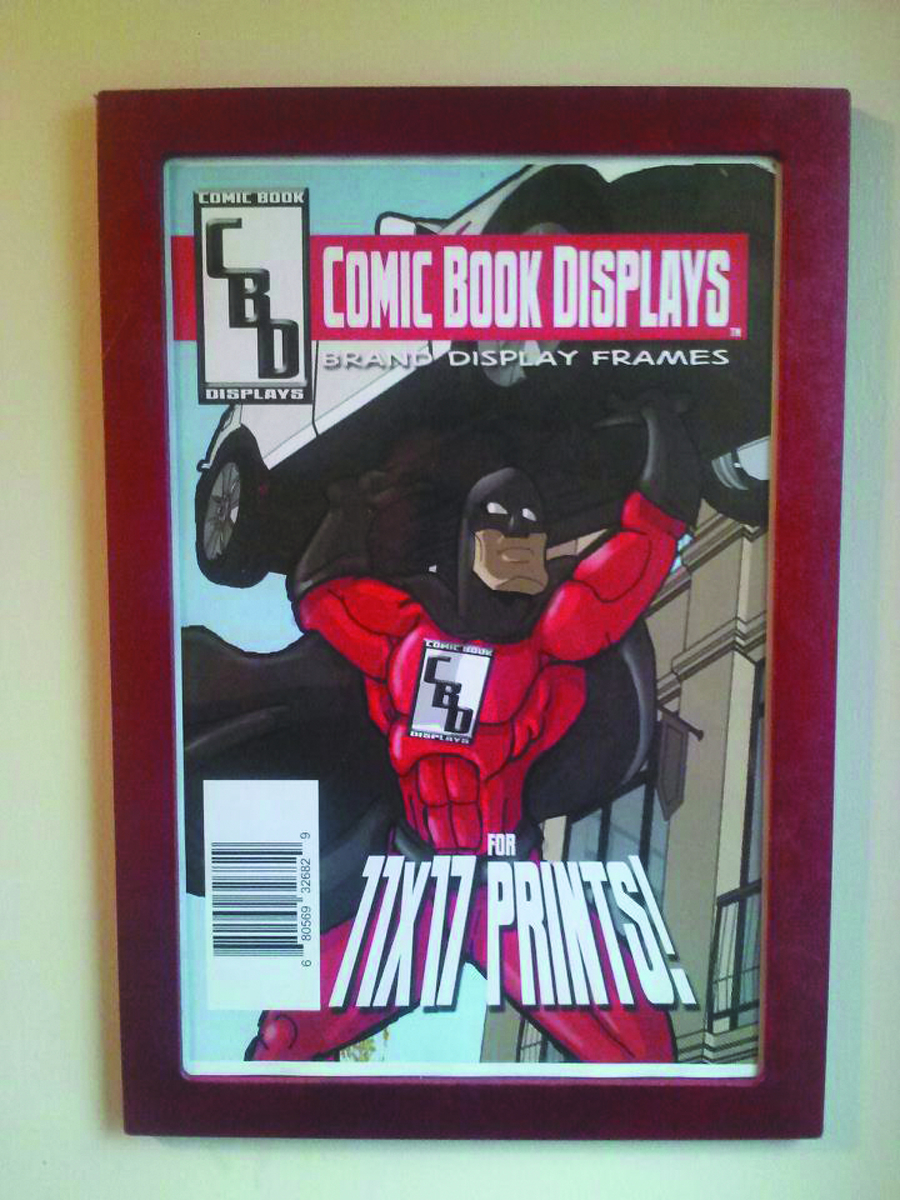 COMIC BOOK DISPLAY UNGRADED DISP FRAME RED ASST