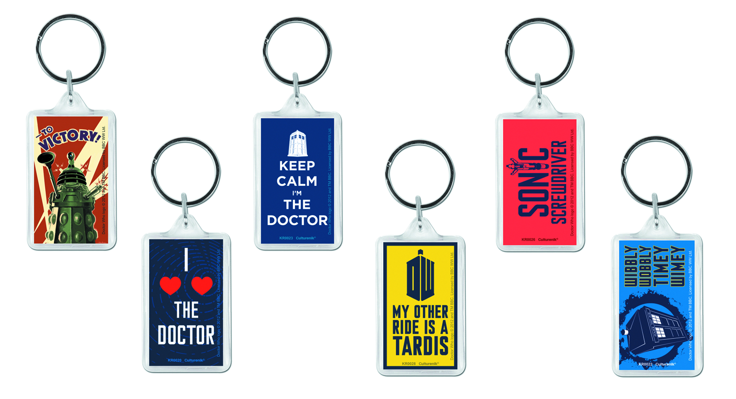 DOCTOR WHO 42PC KEYRING ASSORTMENT