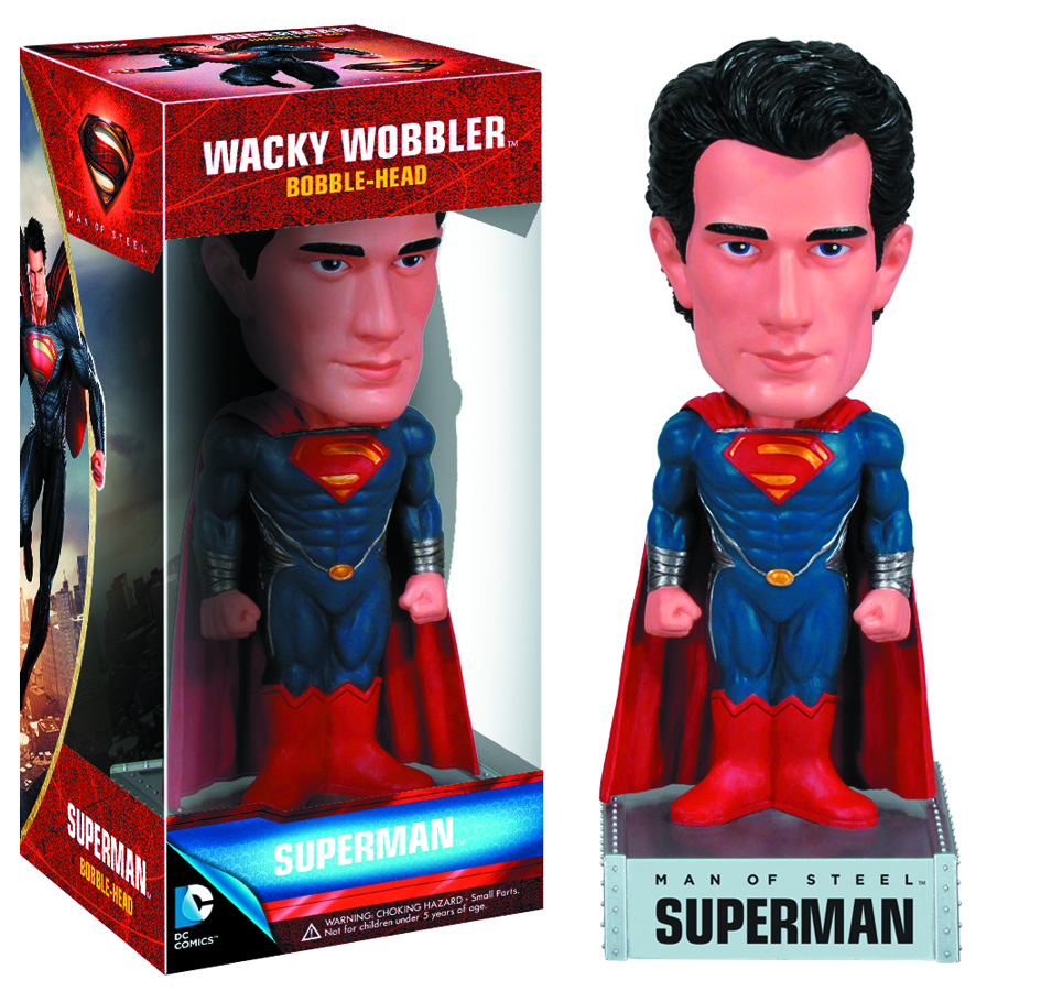 MAN OF STEEL SUPERMAN WACKY WOBBLER