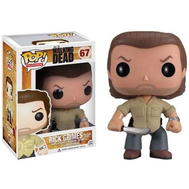 POP WALKING DEAD PRISON RICK VINYL FIG