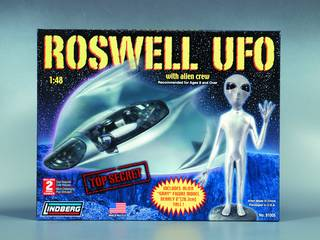 LINDBERG ROSWELL UFO 1/48 SCALE MODEL KIT