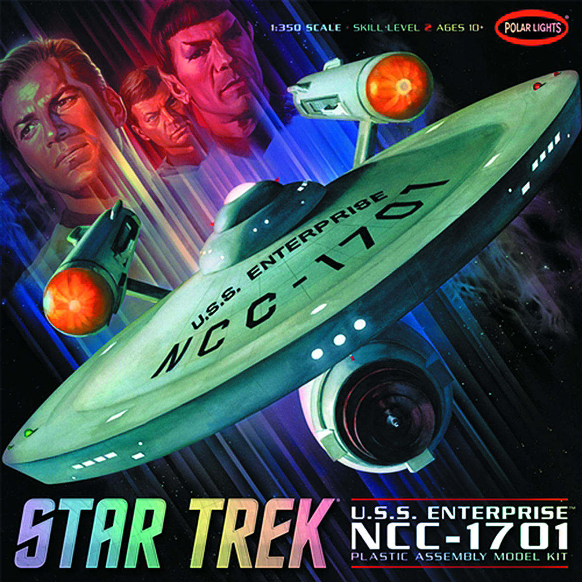 ST TOS ENTERPRISE NCC-1701 1/350 SCALE MODEL KIT