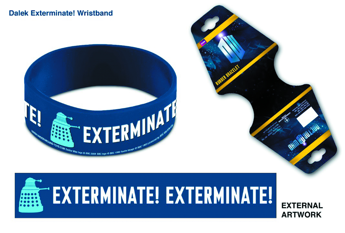 DOCTOR WHO EXTERMINATE WRISTBAND