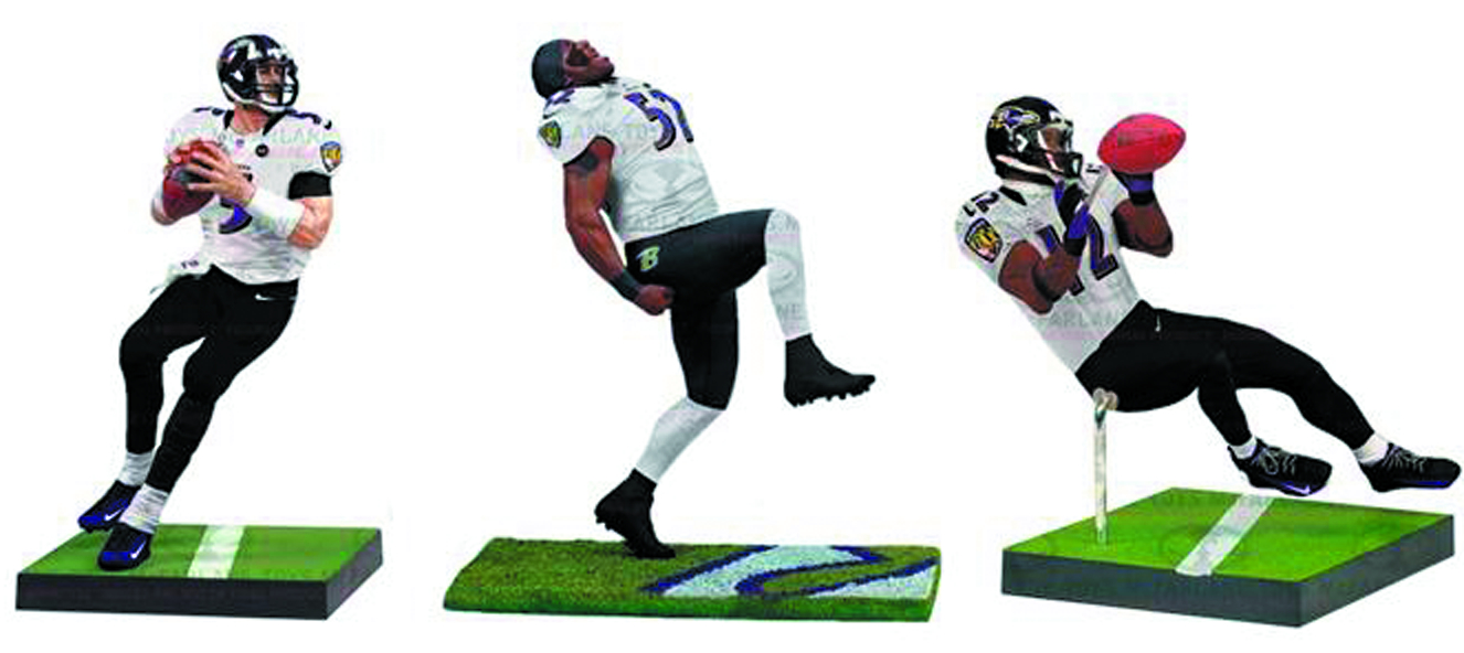 TMP 2013 BALTIMORE RAVENS CHAMP 3PK AF SET CS
