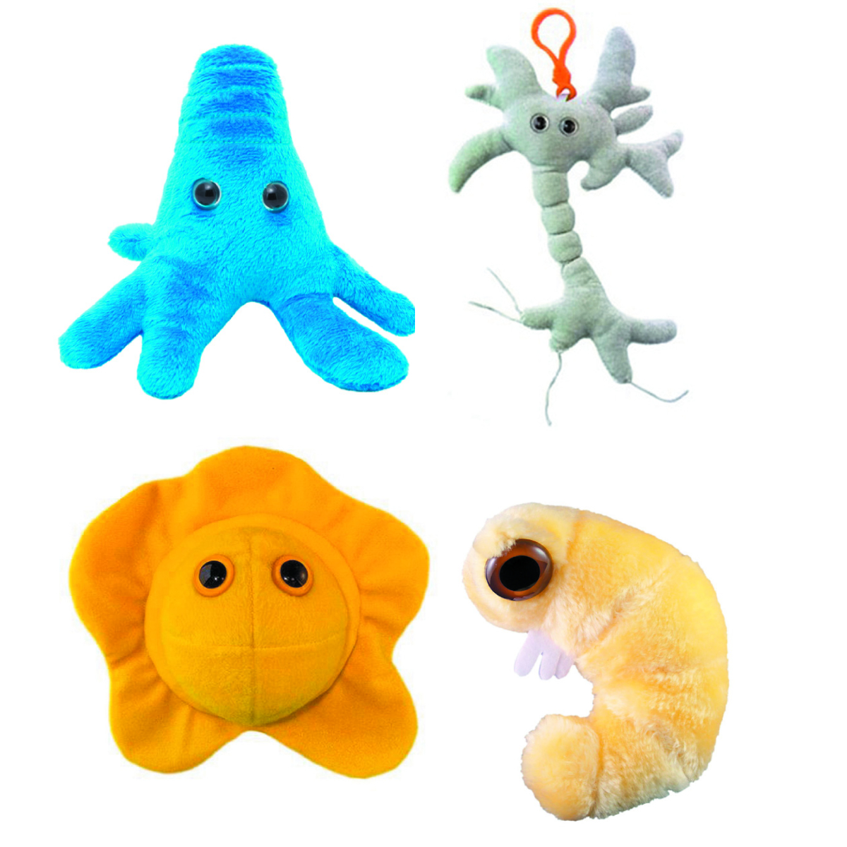 GIANT MICROBES PLUSH KEY CHAIN BEST SELLER DIS