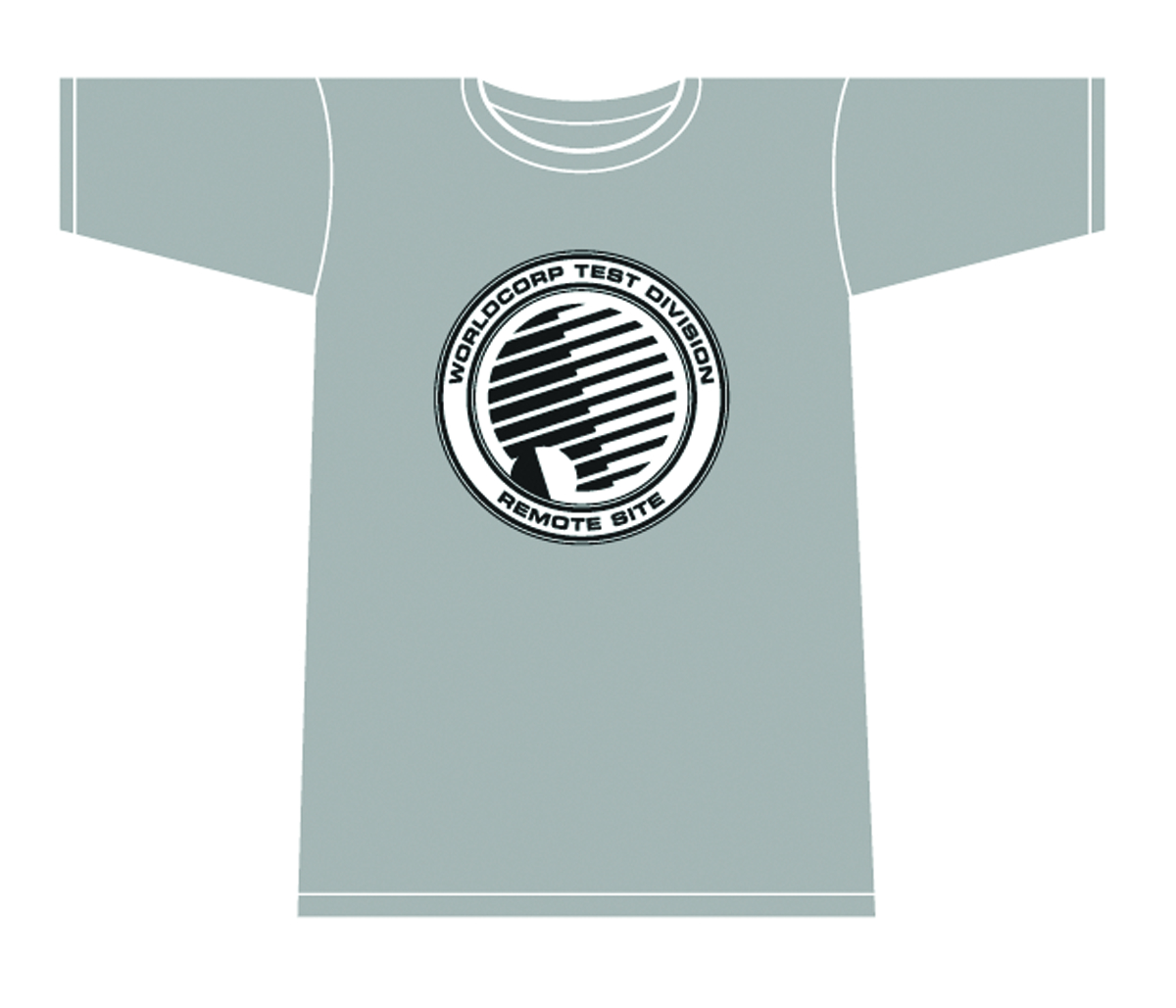 NOWHERE MEN WORLD CORP TEST DIVISION T/S GREY WOMENS LG
