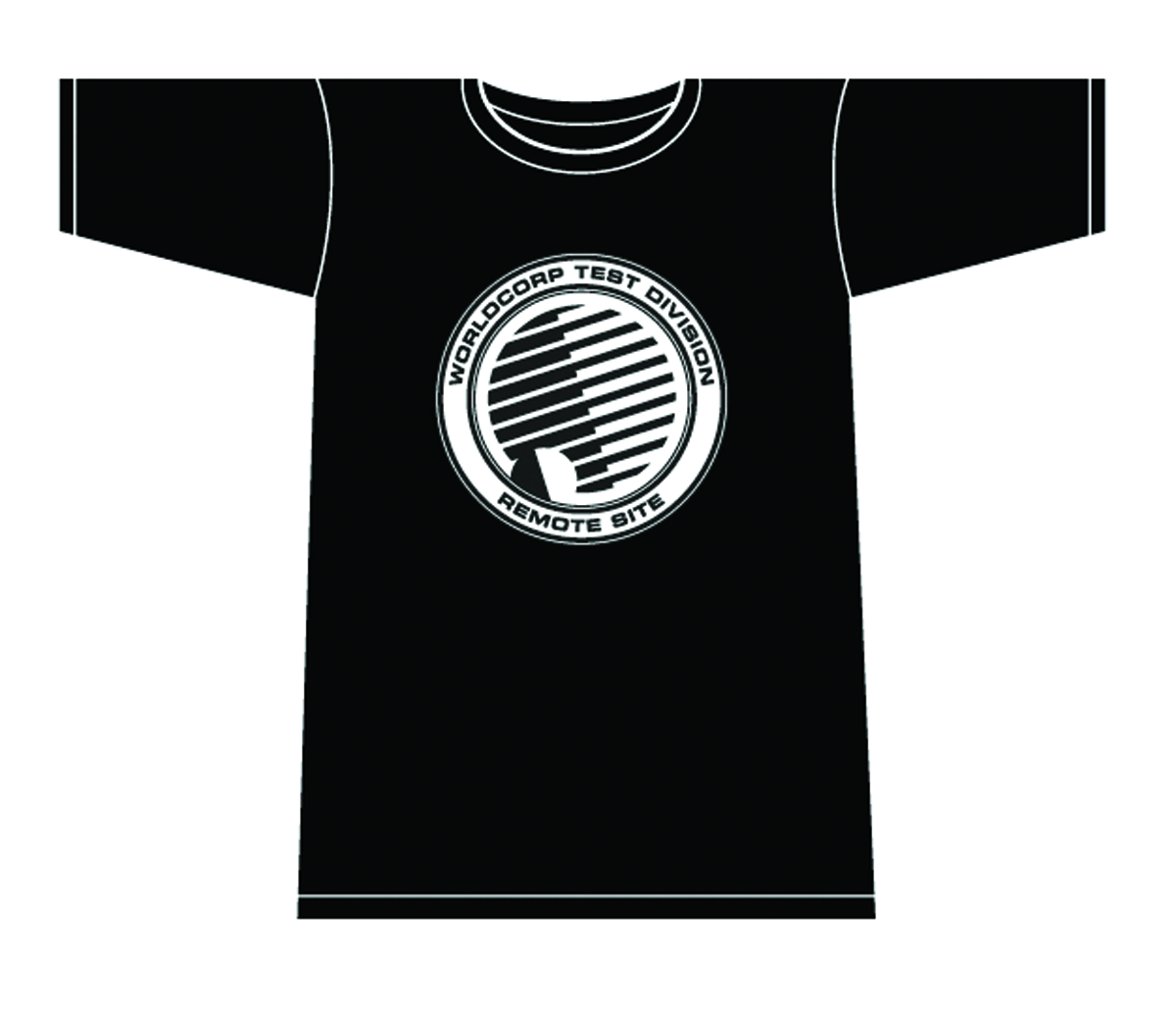 NOWHERE MEN WORLD CORP TEST DIVISION T/S BLK WOMENS LG