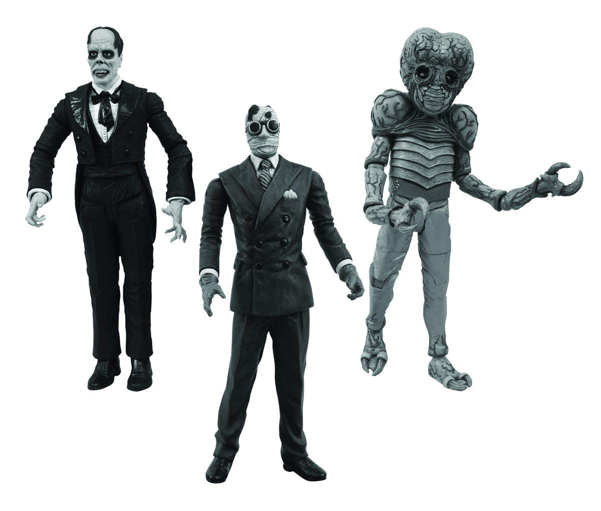 UNIVERSAL MONSTERS BLACK & WHITE FIGURE SET #3