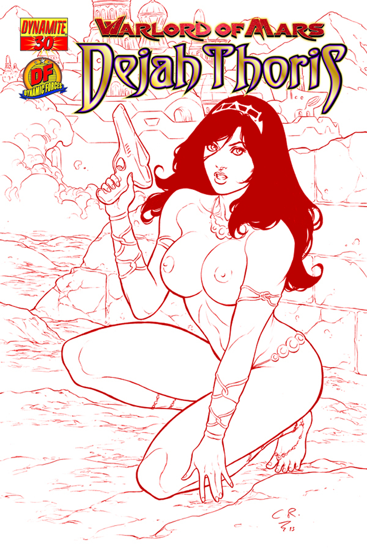 DF WARLORD OF MARS DEJAH THORIS #30 RISQUE RED CVR