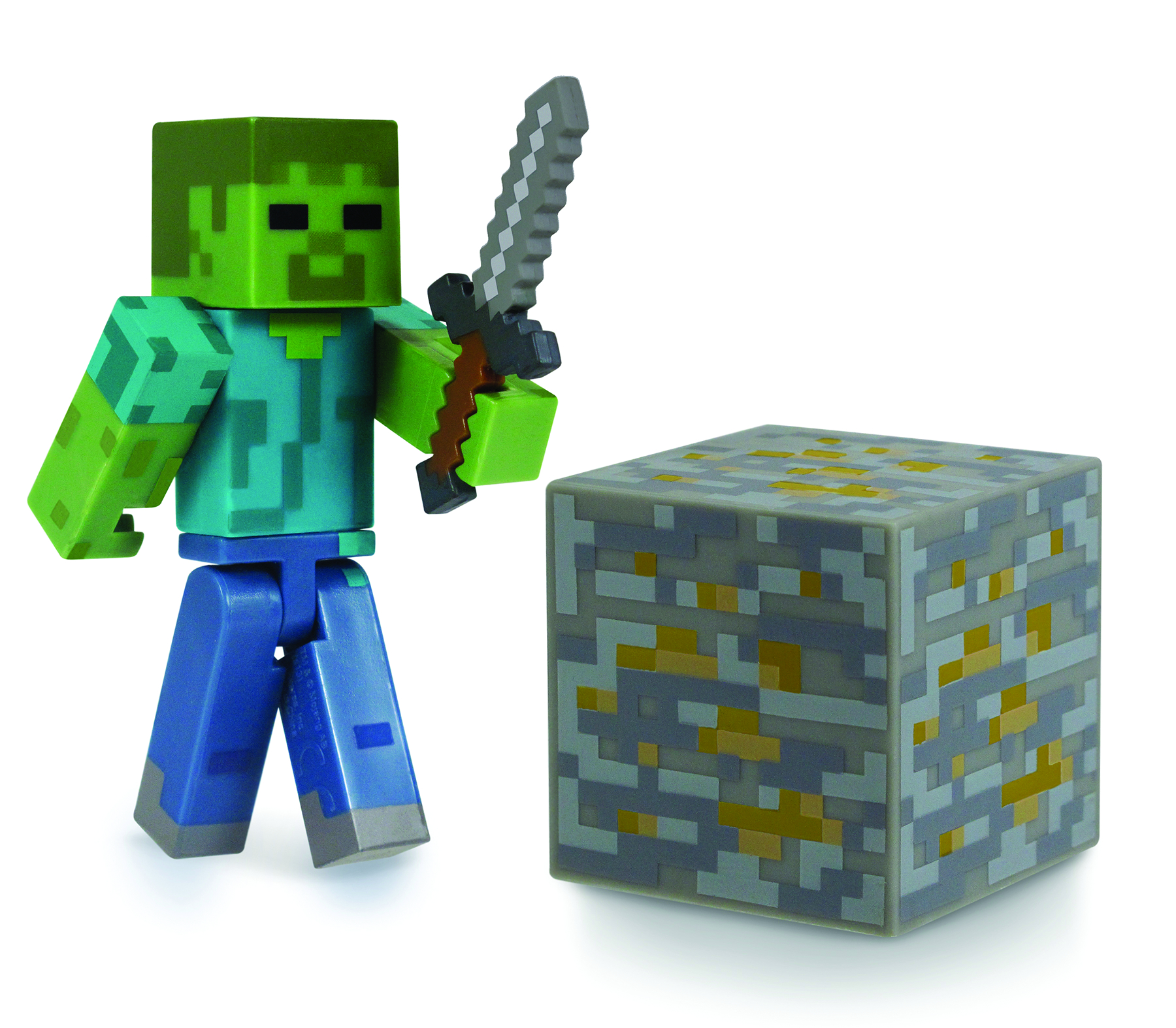 MINECRAFT CORE 3IN ZOMBIE W/ACCESSORY CS