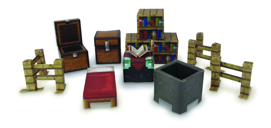MINECRAFT PAPERCRAFT UTILITY PACK 45PC SET CS  (RES)