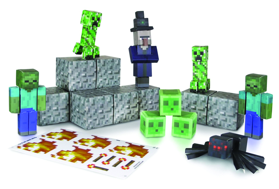 MINECRAFT PAPERCRAFT HOSTILE MOBS 45PC SET CS  (RES)