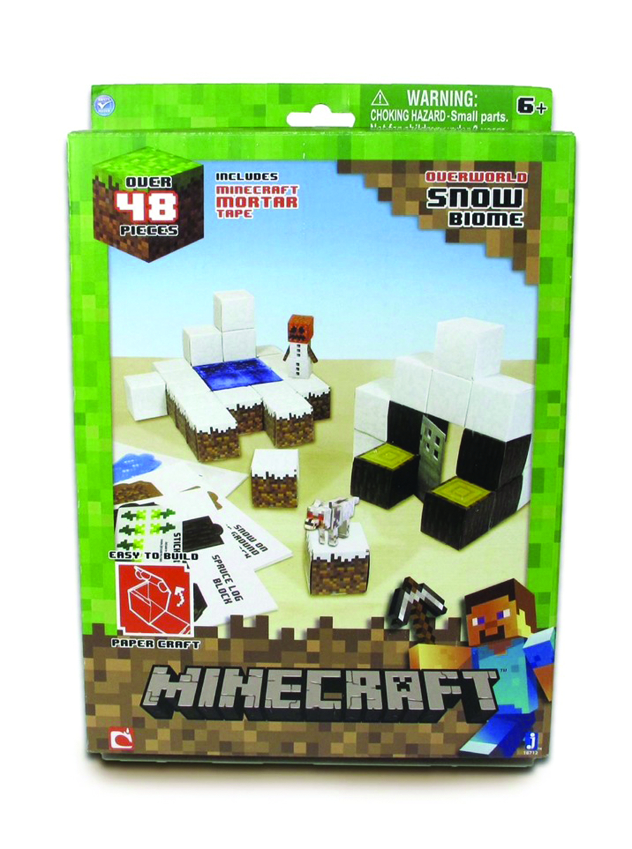 MINECRAFT PAPERCRAFT SNOW 100PC SET CS