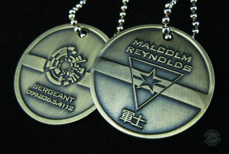 FIREFLY MALCOLM REYNOLDS DOG TAGS SET