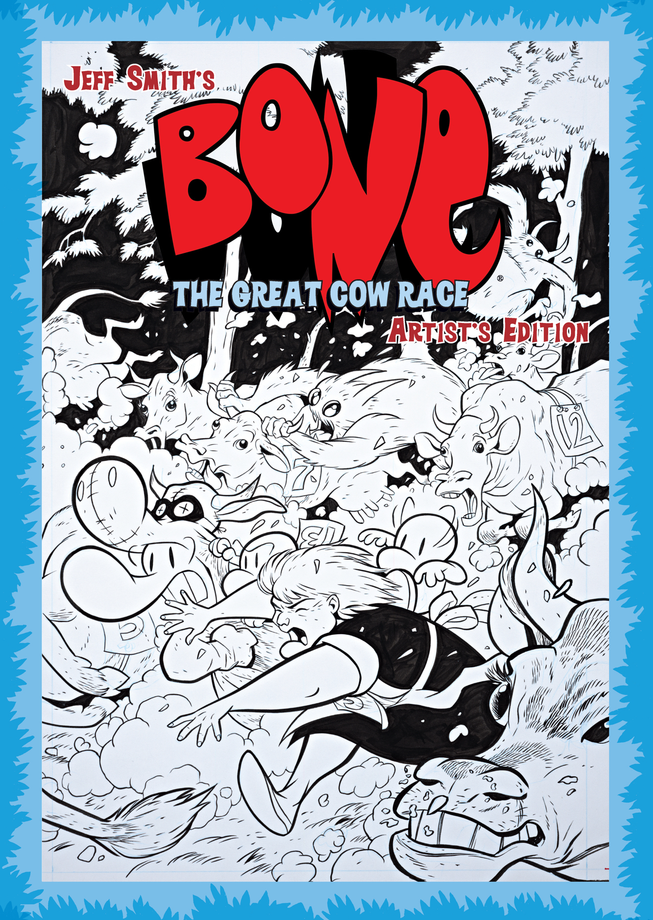 JEFF SMITH BONE GREAT COW RACE ARTIST ED HC
