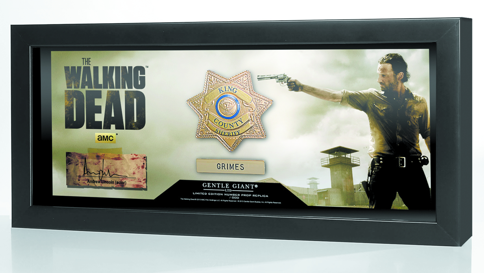 WALKING DEAD SHERIFF GRIMES BADGE PROP REPLICA