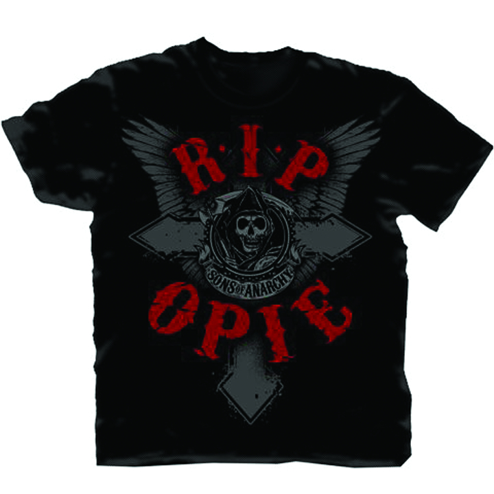 SONS OF ANARCHY RIP OPIE PX BLK T/S LG
