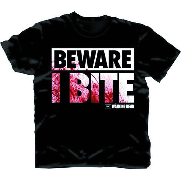 WALKING DEAD BEWARE I BITE COSTUME T/S XL