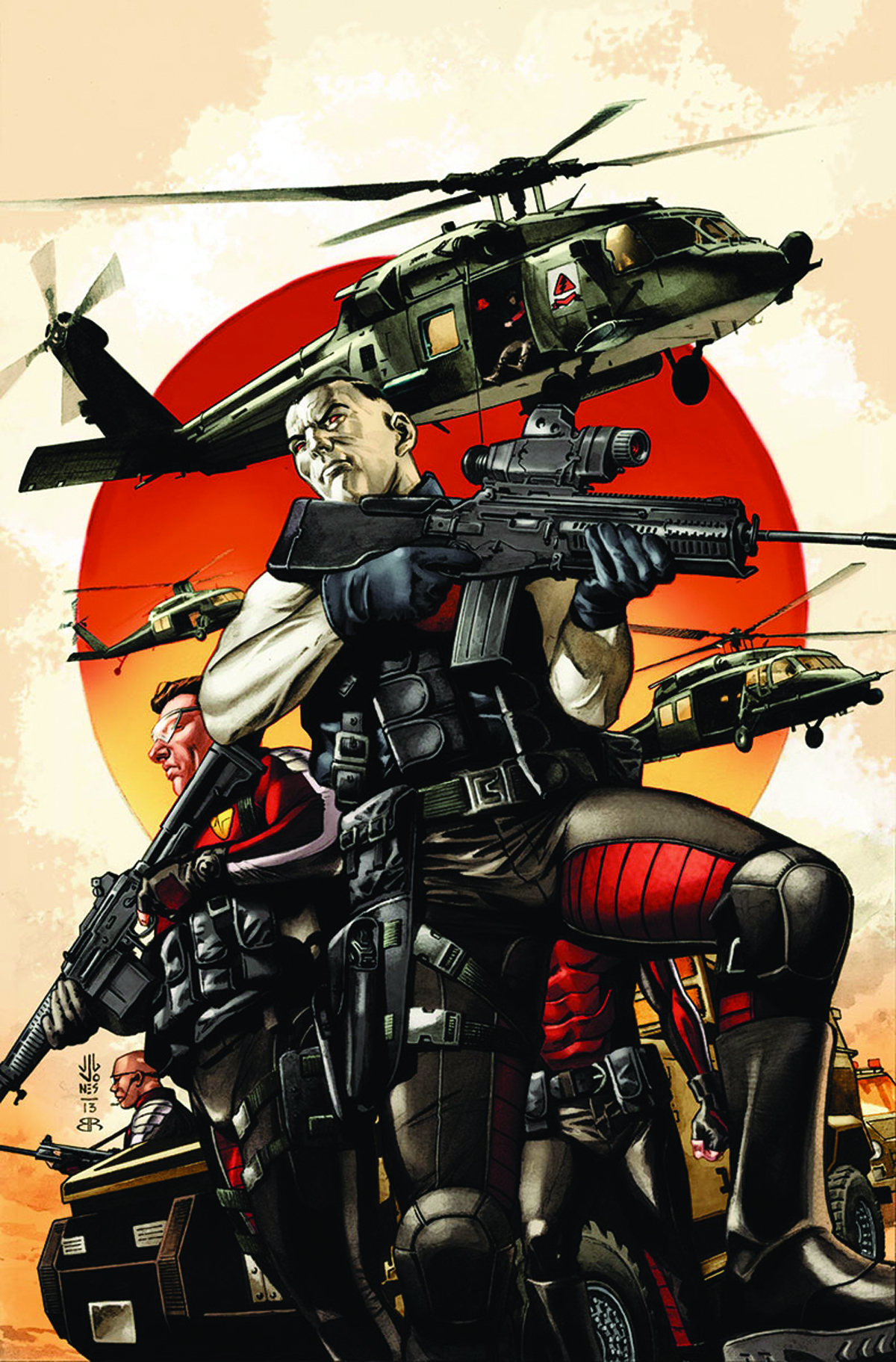 BLOODSHOT & HARD CORPS #14 REG JONES