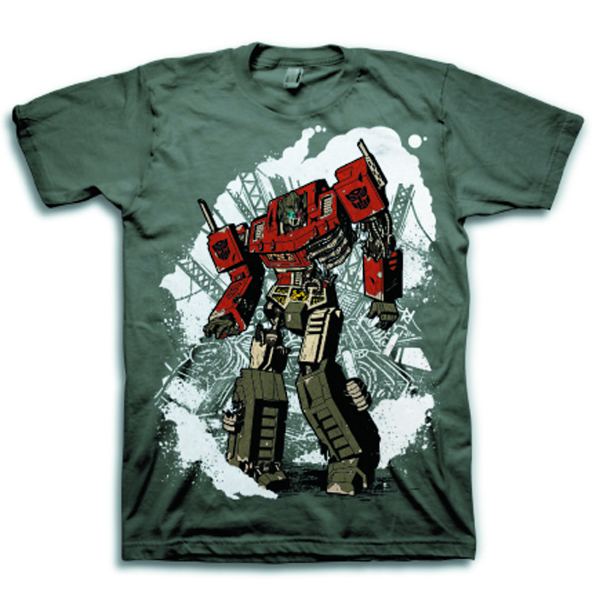 TRANSFORMERS ZOMBIE OPTIMUS PX GREY T/S MED