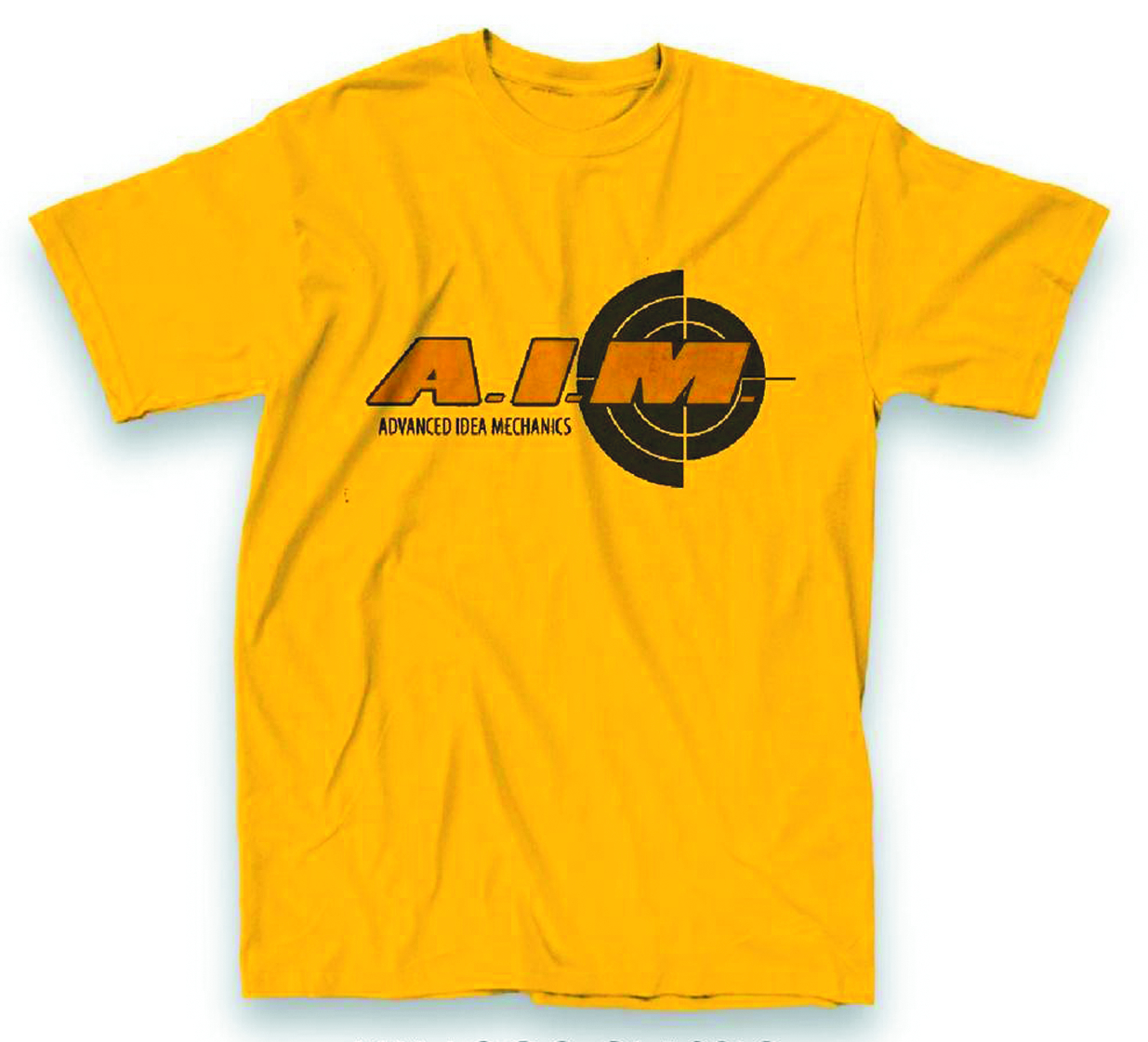 AIM LOGO PX YELLOW T/S MED