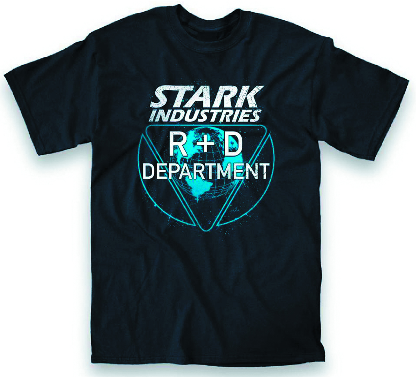 STARK INDUSTRIES R&D DEPT PX NAVY T/S SM