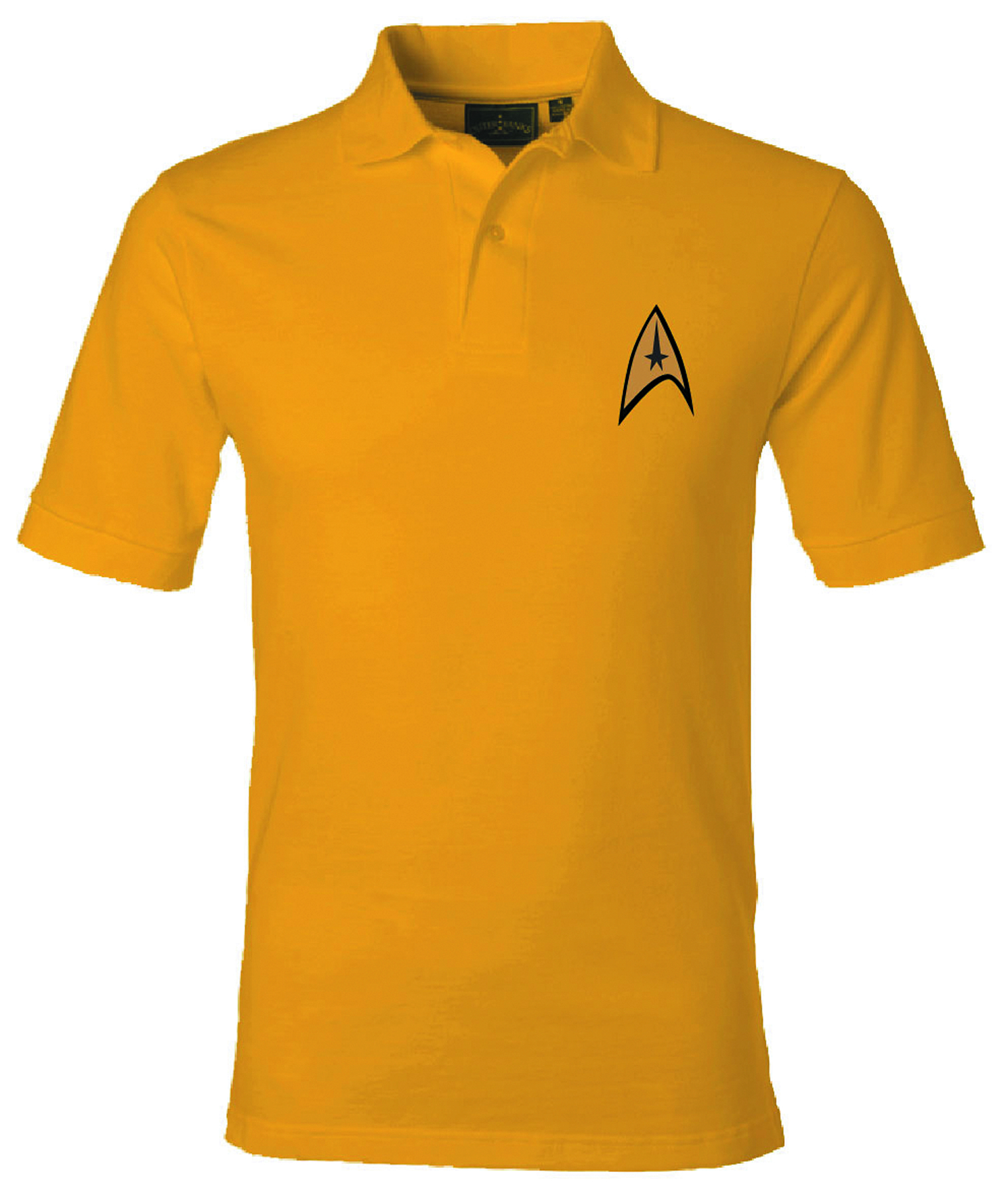 ST STARFLEET COMMAND SYMBOL GOLD POLO XL
