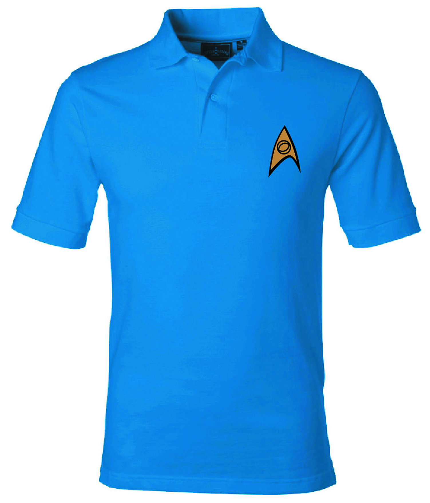 ST STARFLEET SCIENCE SYMBOL BLUE POLO XXL